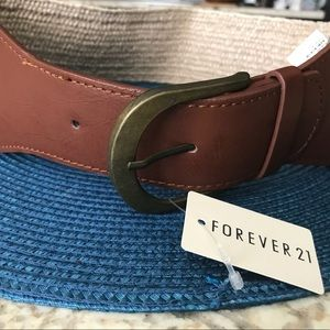Forever 21 Basket Weave Faux Leather Belt
